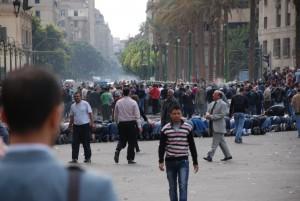 Fredliga protester mot det styrande militärrådet i Kairo 2011. © Sebastian van Baalen