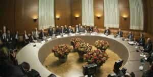Diplomatiska samtal om Irans kärnenergiprogram i Genève 2013. Foto: US Department of State/Wikimedia Commons