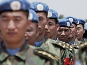 Kinesiska ingenjörer ansluter sig till FN/AU-operationen i Darfur. Foto: UN Photo/Stuart Price
