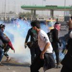 Irakiska protester slås ner med våldsam kraft
