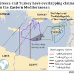 Flera parallella krishärdar i östra Medelhavet